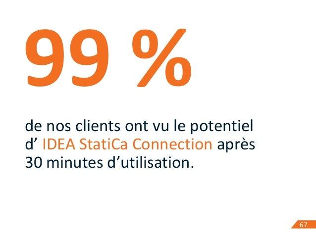 6767 99% de nos clients ont vu le potentiel d' IDEA StatiCa Connection après 30 minutes d'utilisation.