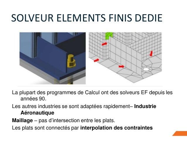 La plupart des programmes de Calcul ont des solveurs EF depuis les années 90. Les autres industries se sont adaptées rapid...