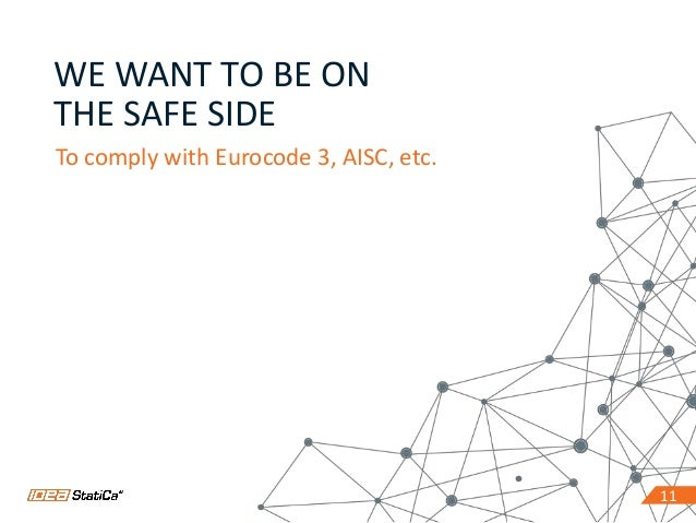 1111 WE WANT TO BE ON THE SAFE SIDE To comply with Eurocode 3, AISC, etc.