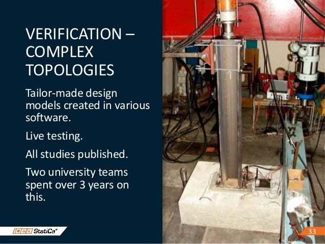 3333 VERIFICATION – COMPLEX TOPOLOGIES Tailor-made design models created in various software. Live testing. All studies pu...