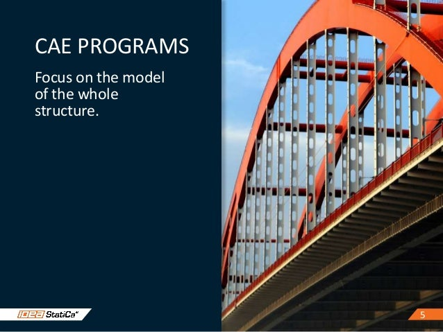 55 CAE PROGRAMS Focus on the model of the whole structure.