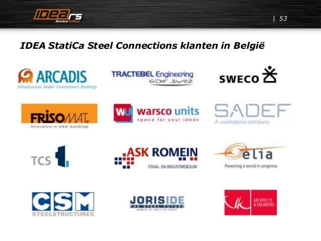 IDEA StatiCa Steel Connections klanten in België 53
