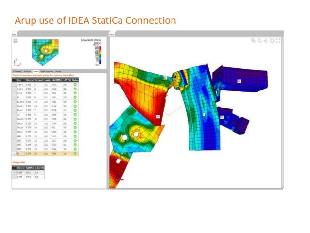 Arup use of IDEA StatiCa Connection