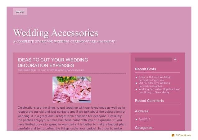 Wedding AccessoriesWedding AccessoriesA COMPLETE STORE FOR WEDDING CEREMONYARRANGEMENTA COMPLETE STORE FOR WEDDING CEREMON...