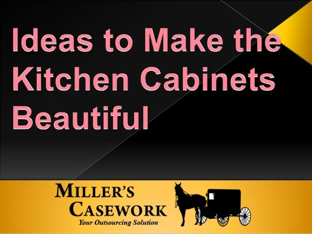 If you want your kitchen to look traditionally elegant, you can try the idea of cabinets having details of furniture-style...