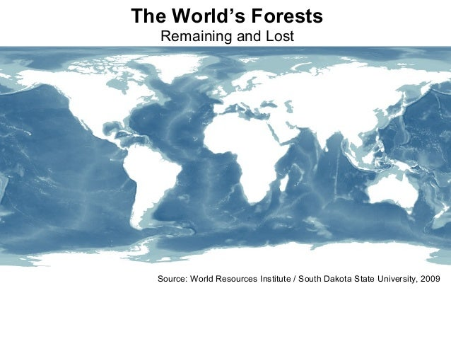 Source: World Resources Institute / South Dakota State University, 2009 The World's Forests Remaining and Lost