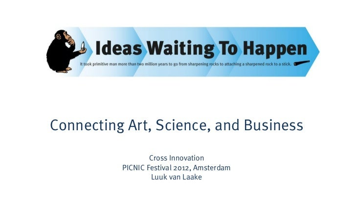 Connecting Art, Science, and Business                  Cross Innovation          PICNIC Festival 2012, Amsterdam          ...