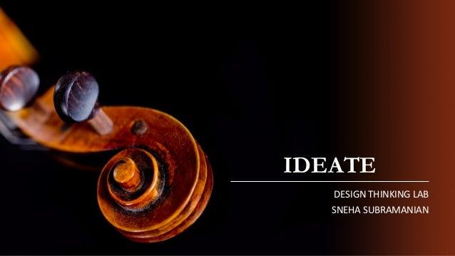 IDEATE DESIGN THINKING LAB SNEHA SUBRAMANIAN