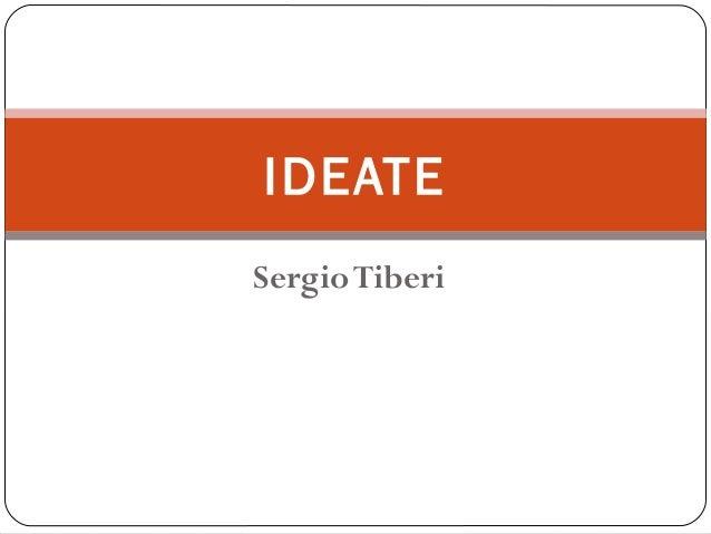 SergioTiberi IDEATE