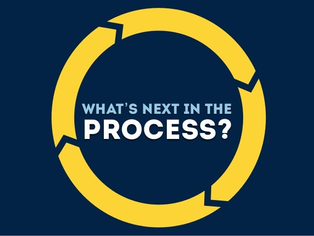 What's next in the process?