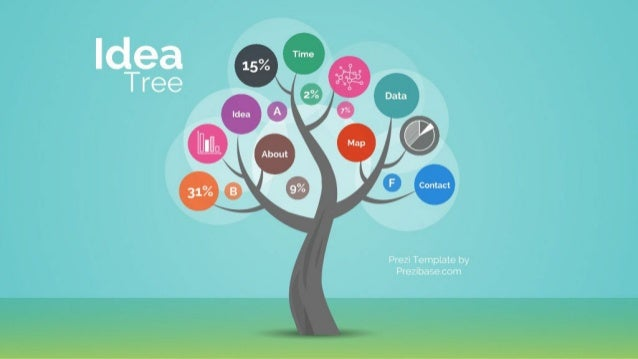 Prezi Template | Idea Tree Infographic Prezi Template