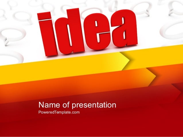 idea with arrows powerpoint template by poweredtemplatecom