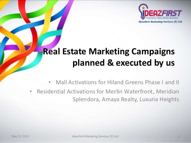Ideazfirst Real Estate Marketing Proposal