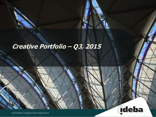 Creative Portfolio – Q3, 2015