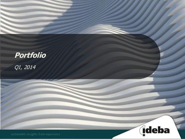 Portfolio Q1, 2014