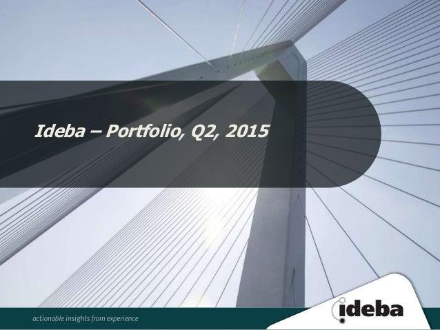 Ideba – Portfolio, Q2, 2015