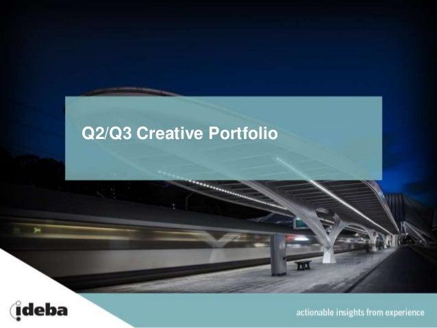 Q2/Q3 Creative Portfolio