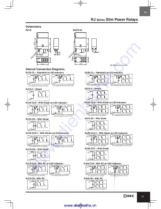 idec relay wiring diagram wiring diagram db 5 Blade Relay Wiring Diagram