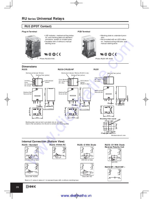 idec relay wiring blog wiring diagrams  idec ry4s relay wiring diagram #1