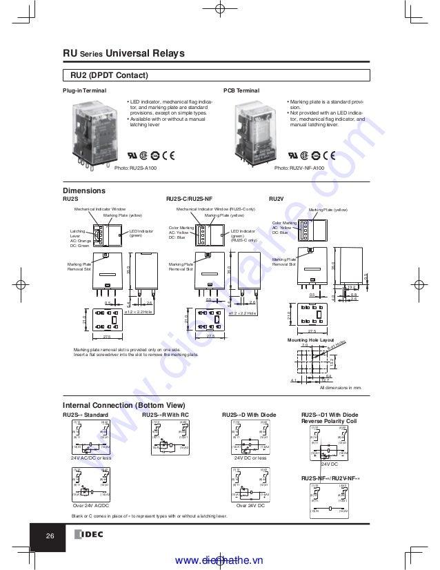 8 Pin Relay Socket Wiring Diagram | Wiring Diagram Idec Rh B Base Wiring Diagram on