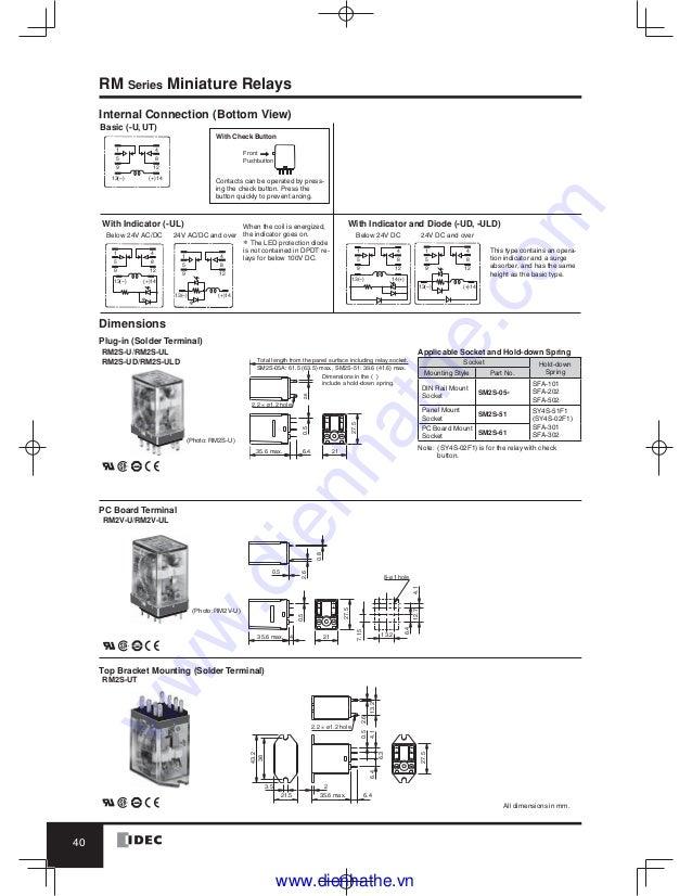 idec rh2bulcac24v relay wiring diagram wiring diagrams rh 28 ecker leasing de Relay Switch Wiring Diagram 4 Wire Relay Wiring Diagram
