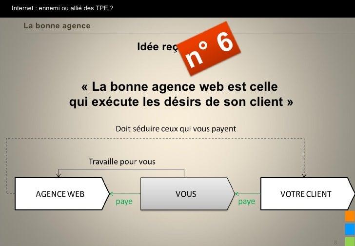 Internet : ennemi ou allié des TPE ?    La bonne agence                                       Idée reçue                  ...