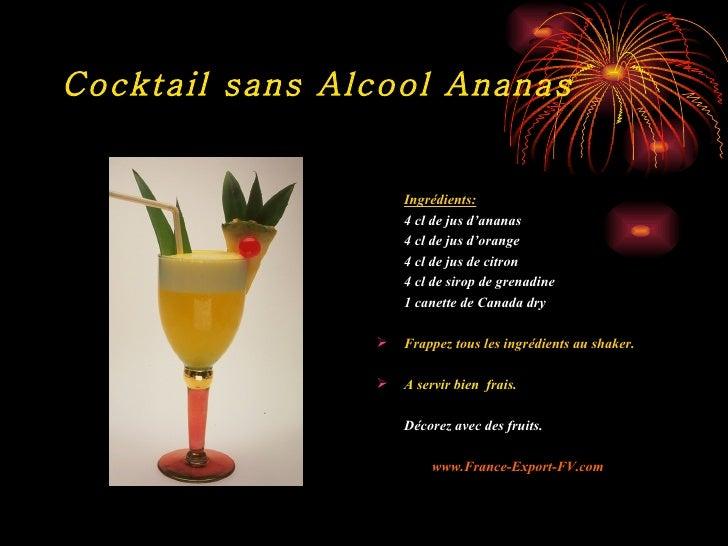 Cocktail sans alcool orange ananas grenadine