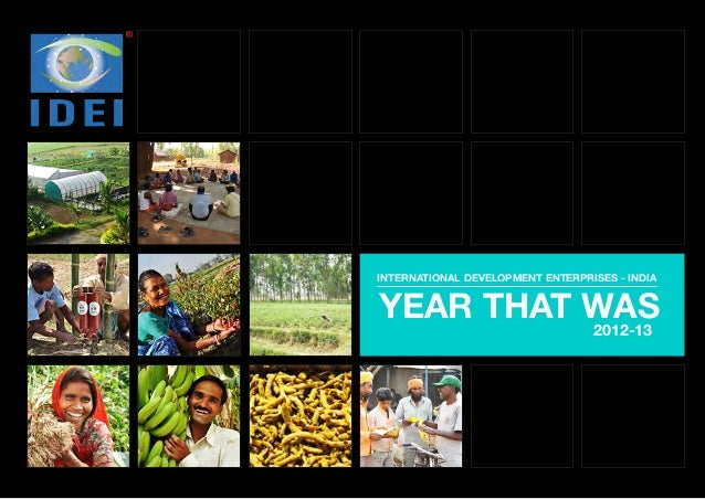 INTERNATIONAL DEVELOPMENT ENTERPRISES - INDIA  YEAR THAT WAS 2012-13