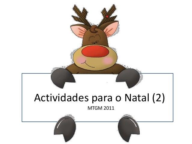 Actividades para o Natal (2)           MTGM 2011