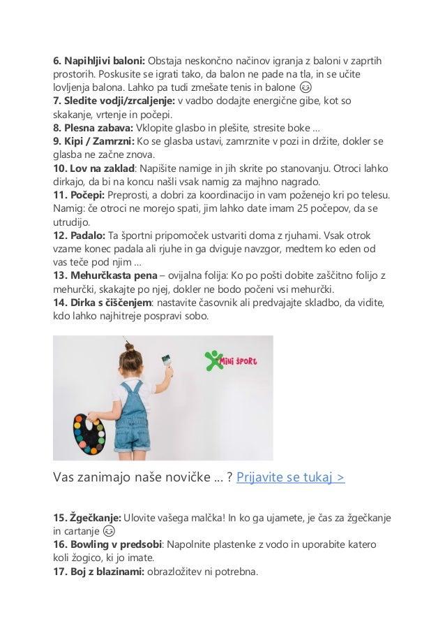 Ideje za gibanje doma Slide 2