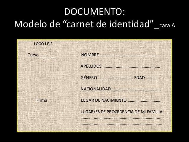 carnet de identidad identidadidentificaci243n