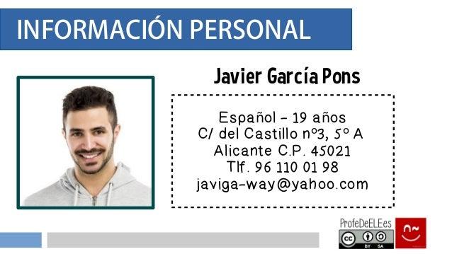 Presentación información personal - ProfeDeELE.es Slide 2