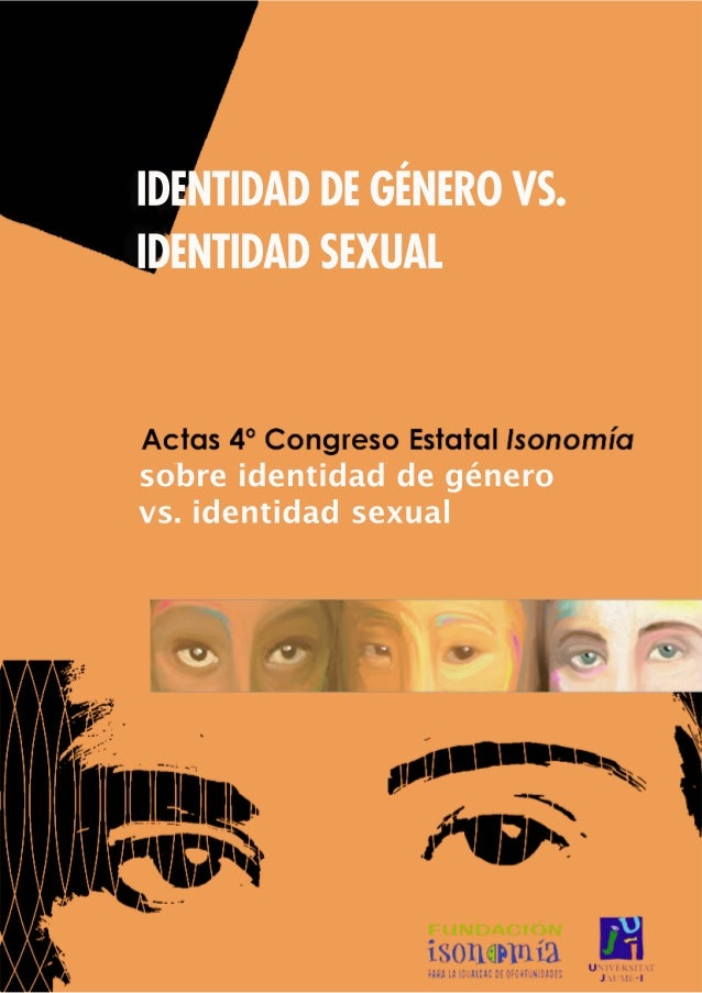 1IDENTIDAD DE GÉNERO VS. IDENTIDAD SEXUAL