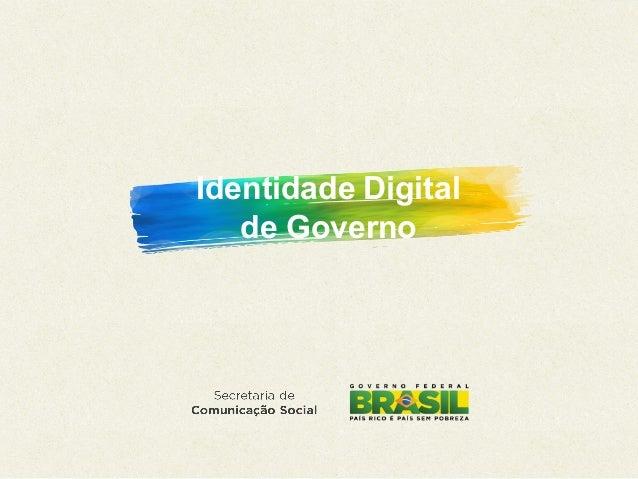 Identidade Digital de Governo