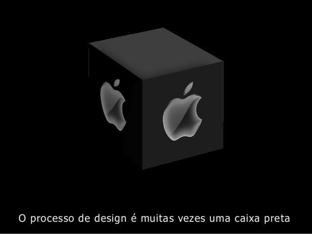 O processo de design é muitas vezes uma caixa preta