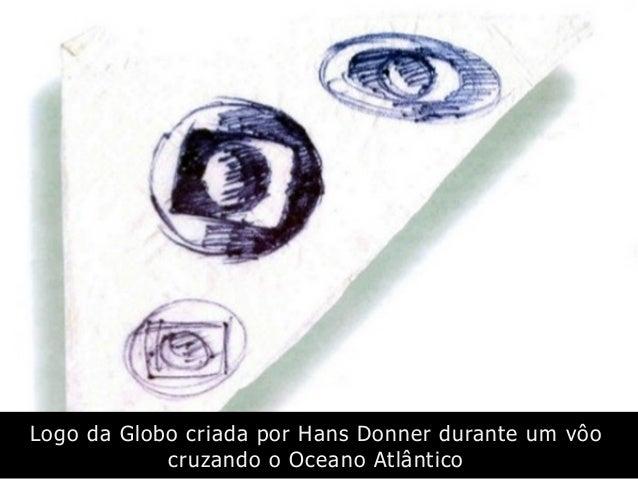 Logo da Globo criada por Hans Donner durante um vôo cruzando o Oceano Atlântico