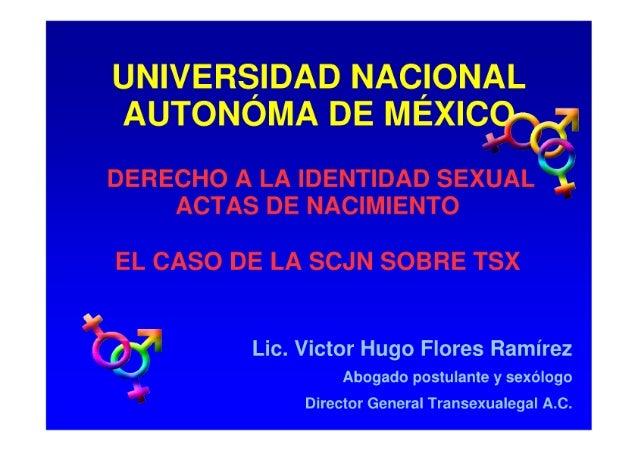 Derecho a la identidad sexual actas de nacimiento