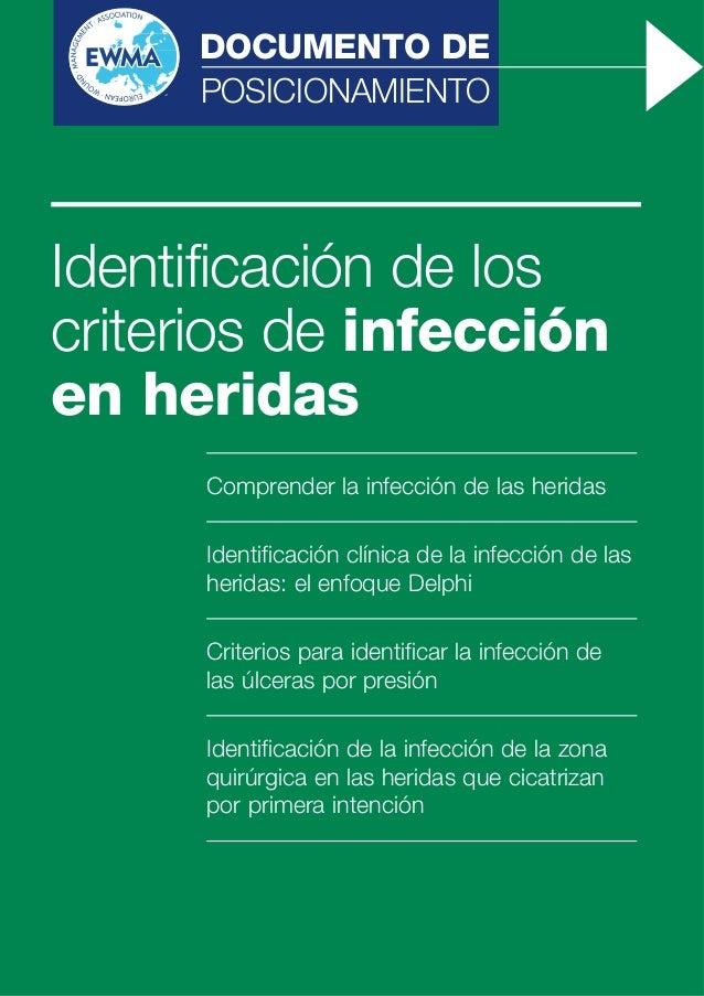 Identificación, criterios de infección