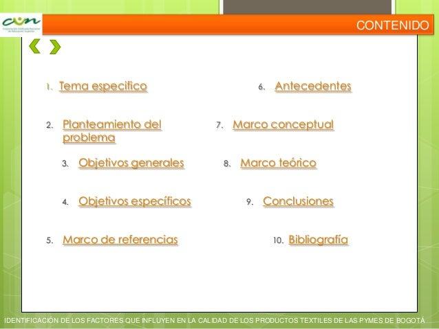 Identificación de los factores que influyen en las pymes del sector textil Slide 2