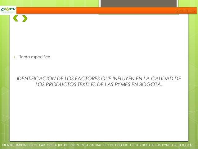 Identificación de los factores que influyen en las pymes del sector textil Slide 3