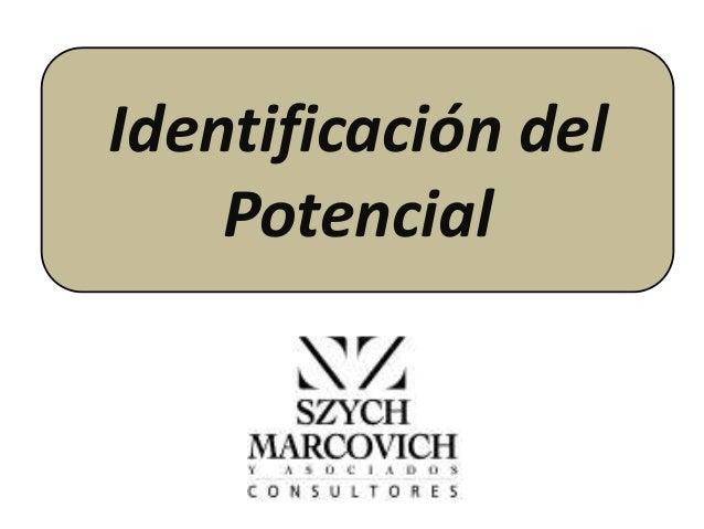 Identificación del Potencial
