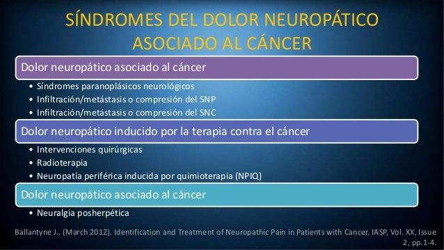 Identificación y tratamiento del dolor neuropático en