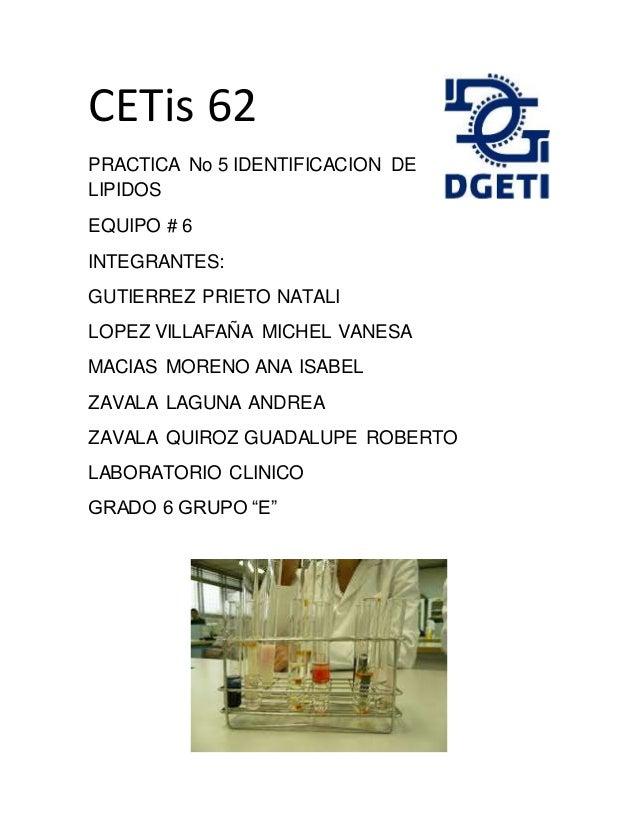 CETis 62 PRACTICA No 5 IDENTIFICACION DE LIPIDOS EQUIPO   6 INTEGRANTES   GUTIERREZ PRIETO NATALI ... 2bbd5ae771a