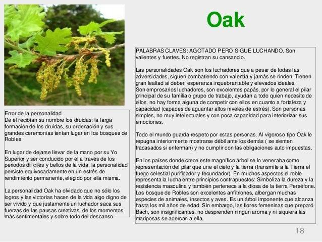 Oak 18 PALABRAS CLAVES: AGOTADO PERO SIGUE LUCHANDO. Son valientes y fuertes. No registran su cansancio. Las personalidade...
