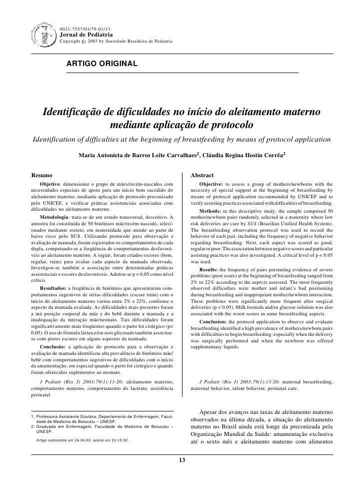 0021-7557/03/79-01/13                                                               Jornal de Pediatria - Vol. 79, Nº1, 20...