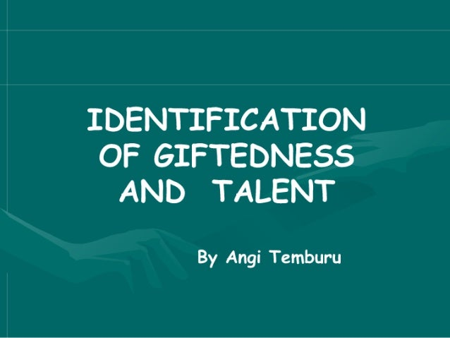 Identification of Gifted and Talented Children