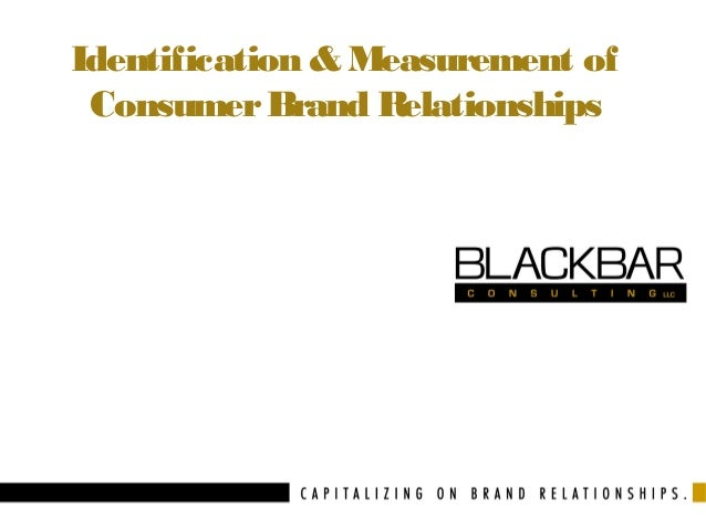 Identification & Measurement of Consumer Brand Relationships