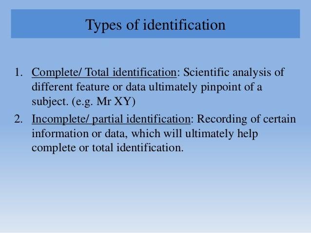 Identification, Forensic Radiology & Odontology Slide 3