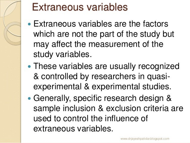 stroop extraneous variable