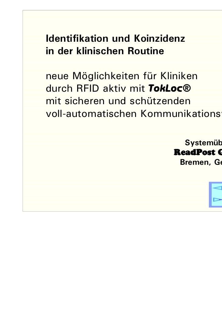 Identifikation & koinzidenz_in_Kliniken_20110306101657